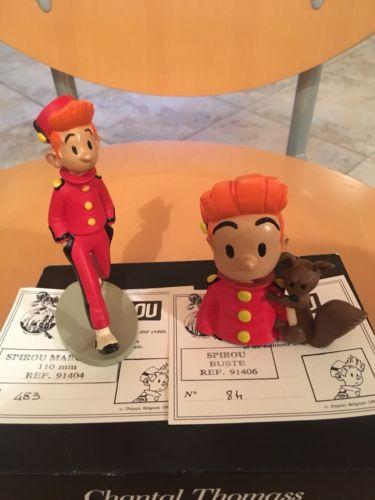 Pixi Lot Spirou Marchant Et Spirou Buste No Tintin