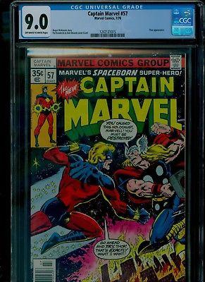 Captain Marvel 57 CGC 9.0 VF/NM Thor appearance Bob Wiacek cover Marvel 1978