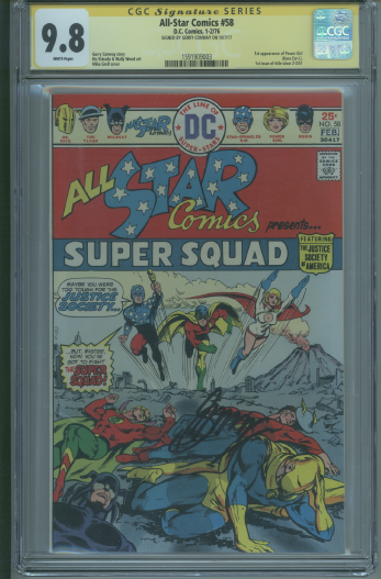 All-Star Comics 58 CGC 9.8 SS Signed Conway Power Girl Super Girl Superman DC