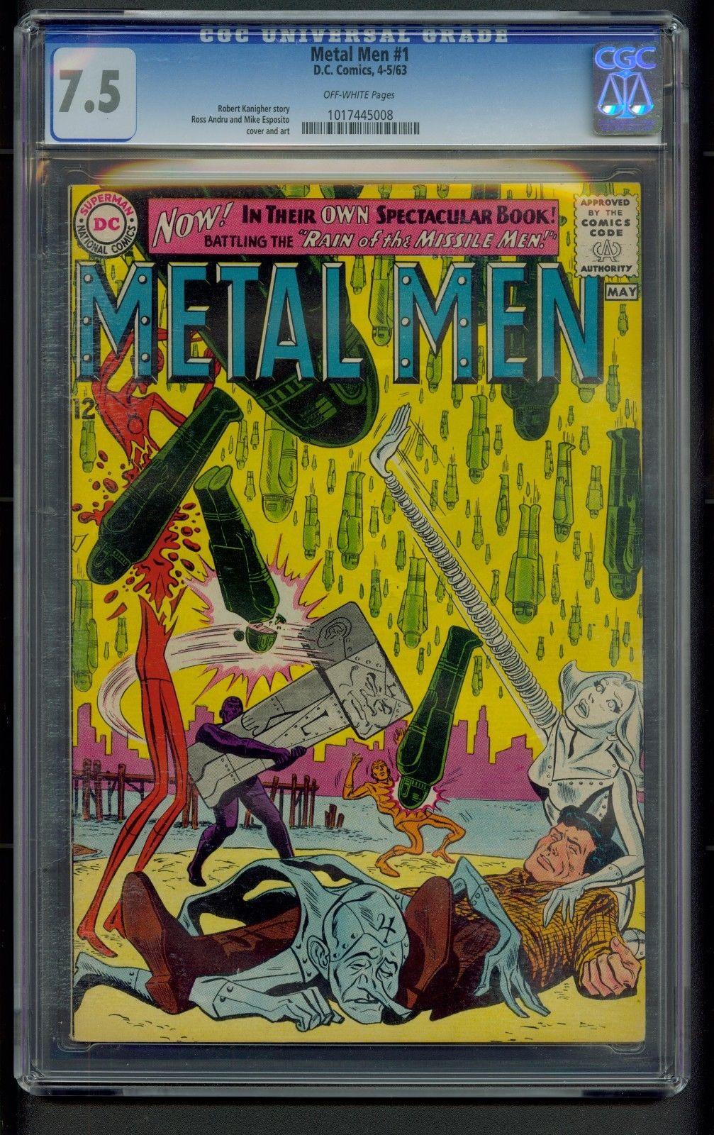Metal Men #1 (1963) CGC Graded 7.5   Ross Andru & Mike Esposito Cover & Art