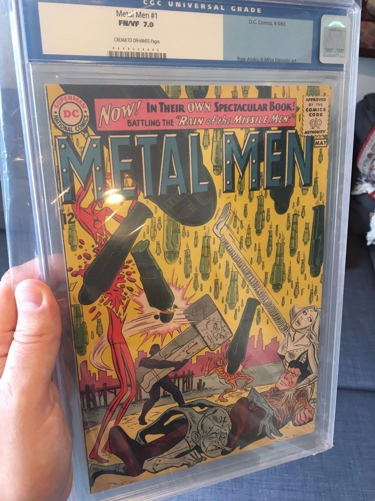 Metal Men #1 CGC (old label) 7.0   1st Metal Men title.  Movie Rumors  cbcs