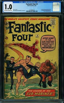 Fantastic Four #4 CGC 1.0 1962 1st Sub-Mariner Silver Age Stan Lee G11 310 cm