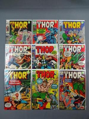 The Mighty Thor Silver Age Lot Of 9 #'s 187,190-191,197-198,200-203 F-VF Marvel
