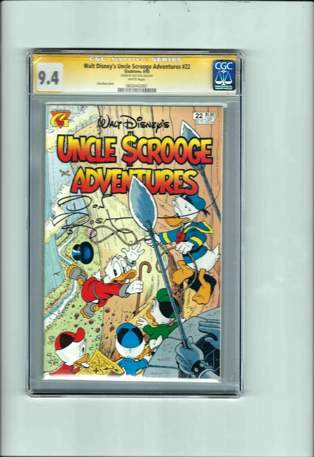 Comicsvalue Com Walt Disney Uncle Scrooge Adventures Cgc Ss 9 4 Signed Don Rosa 1 Ebay Disney Auction Details