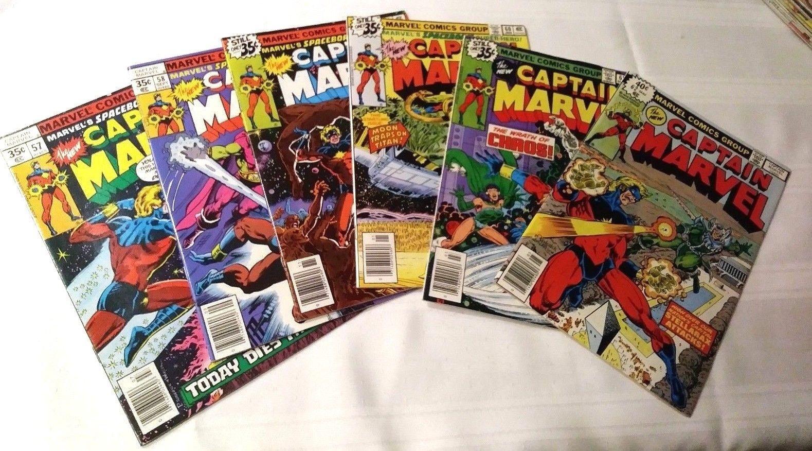Captain Marvel #57, 58, 59, 60, 61, 62   Marvel  1978 (6 comics) VF-NM