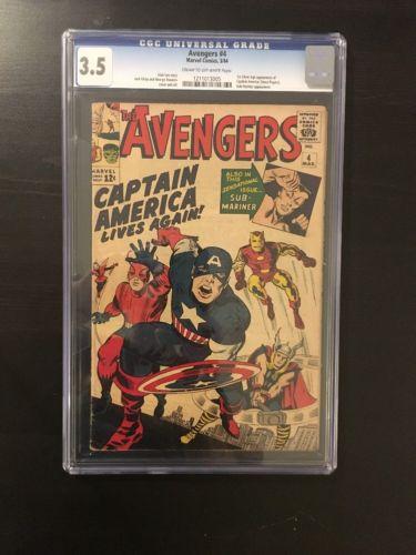 The Avengers #4 (Mar 1964, Marvel) CGC 3.5