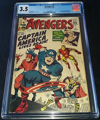 AVENGERS (1963) ISSUE 4 | CGC 3.5 VG- | 1ST SILVER AGE APP OF CAPTAIN AMERICA