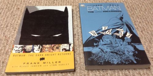 BATMAN The Long Halloween & The Dark Knight Returns TPB graphic novel lot