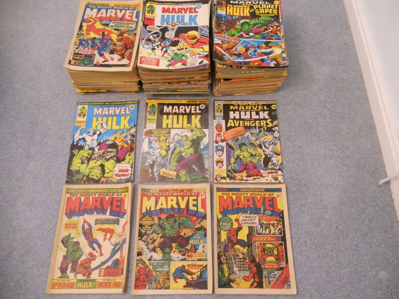 The Mighty World Of Marvel INCREDIBLE HULK X 214 BRONZE AGE LOT # 1 to 329 + 198