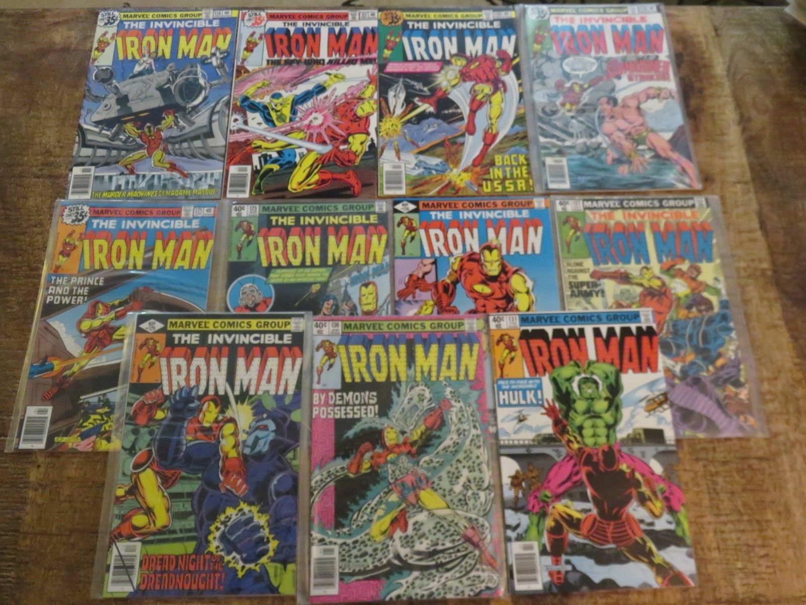 Iron Man 116 117 119 120 121 125 126 127 129 130 131 all NM 9.0 condition