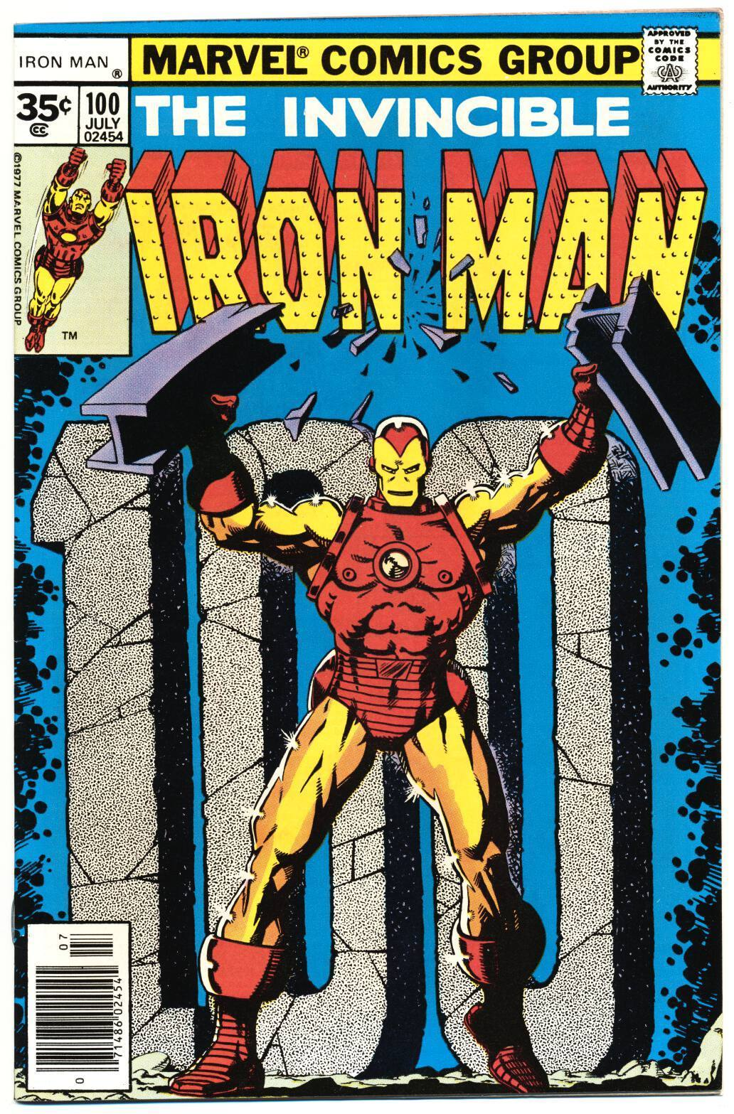 IRON MAN #100 VF, 35¢ Price Variant, Classic Jim Starlin c, Marvel Comics 1977