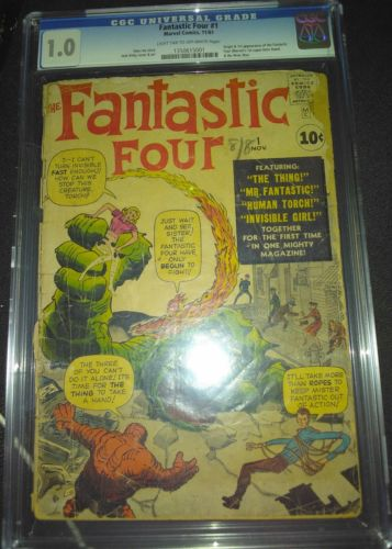 Fantastic Four 1 CGC 1.0 FR | MARVEL 1961 | 1st & Origin Fantastic Four