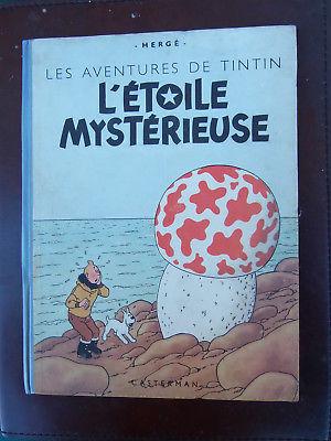 Tintin -  L'étoile mystérieuse 4è plat B1 - dos bleu - 1946 - TRES BON ETAT