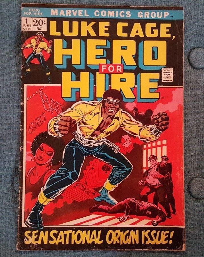 Marvel Comics Group Luke Cage Hero for Hire 1 june 1972 Sensational Origin Issue