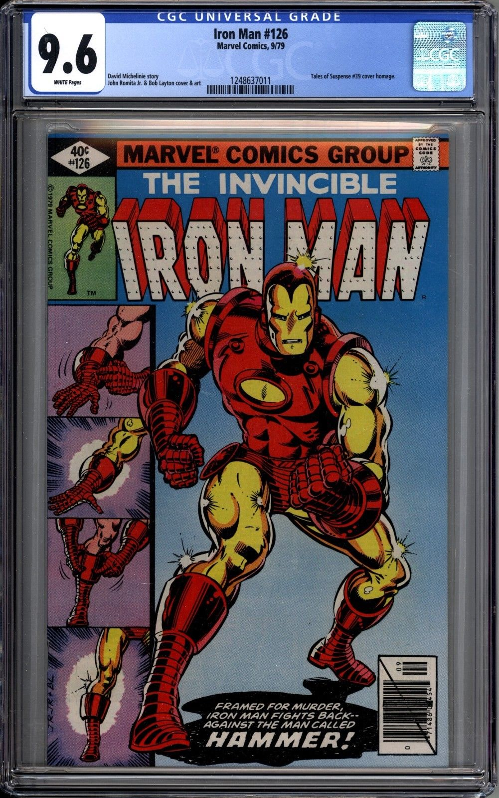 Iron Man 126 CGC Graded 9.6 NM+ Marvel Comics 1979