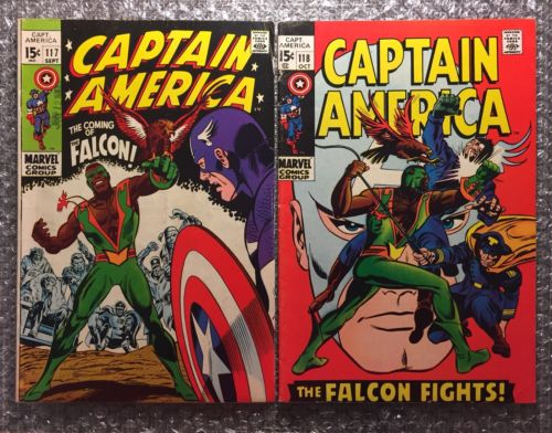 Captain America #117 & #118 (1ST & 2ND FALCON APP) - MOVIE - KEY SILVER AGE LOT
