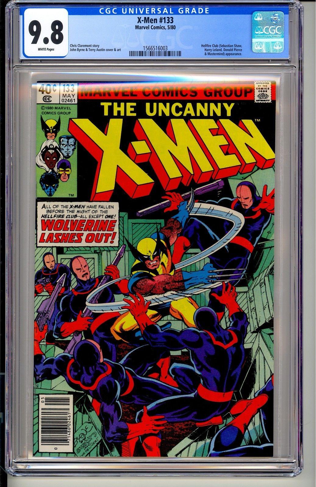 UNCANNY X-MEN #133  CGC 9.8 WP  Marvel Comics 5/80  John Byrne Wolverine Magneto