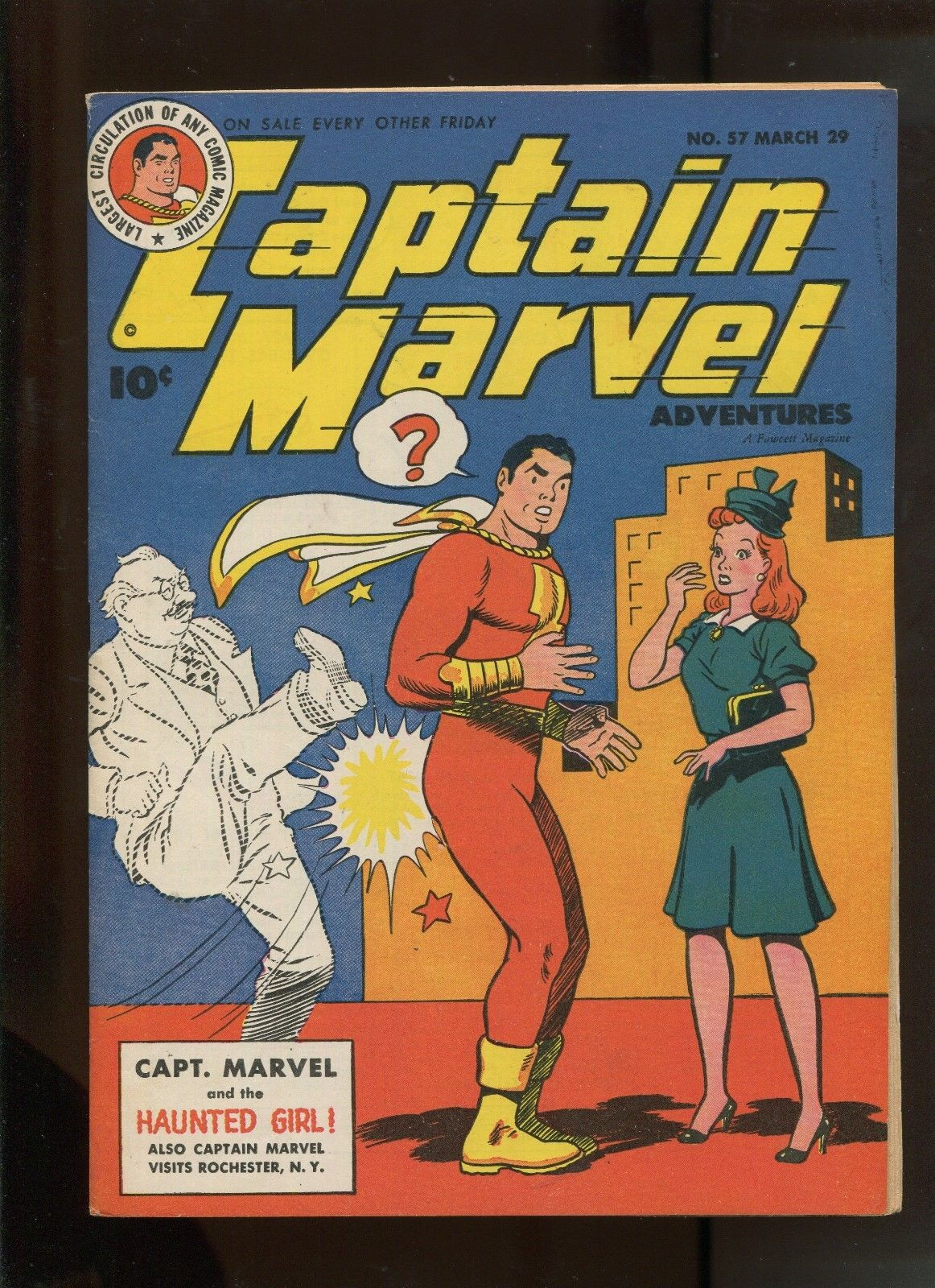 CAPTAIN MARVEL ADVENTURES #57 (7.0) CAPTAIN MARVEL AND THE HAUNTED GIRL