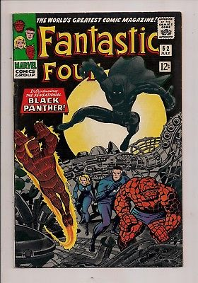 FANTASTIC FOUR #52 1ST APP BLACK PANTHER 1966 FIRST PRINT FIRST SERIES MARVEL