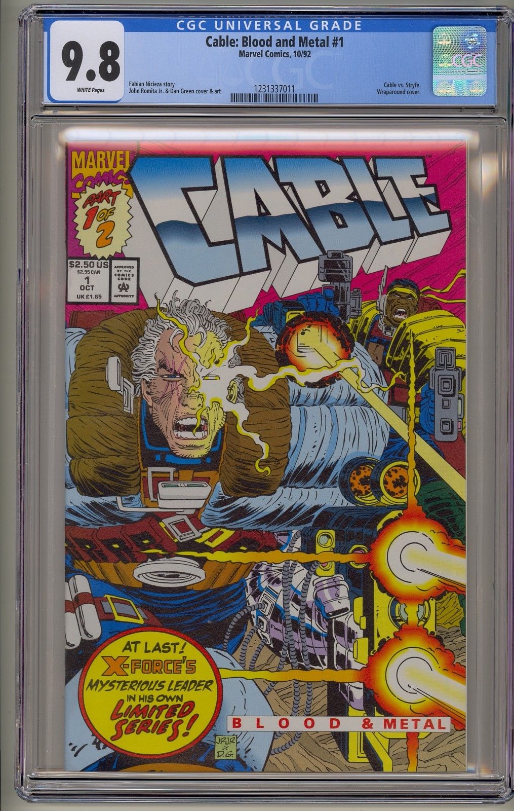 Cable Blood and Metal 1 & 2 CGC 9.8 VS Stryfe Domino Deadpool 2 X-Men Movie &