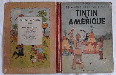 Tintin en Amerique / Dos rouge 1946 / Titre en rouge