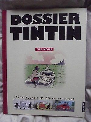 album TINTIN : dossier tintin : l' ile noire 2005 editions moulinsart