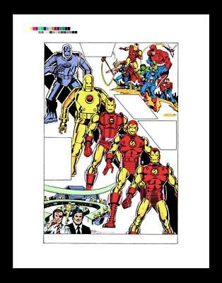 Bob Layton Carmine Infantino Iron Man #122 Rare Production Art Pg 16