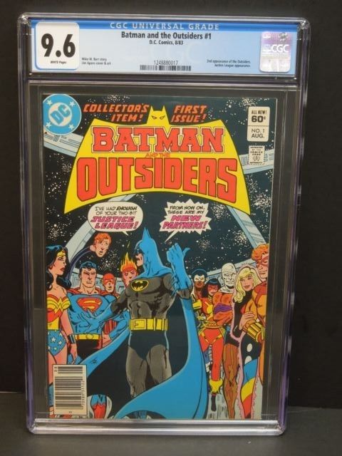 DC COMICS BATMAN AND THE OUTSIDERS #1 1983 CGC 9.6 WP - 2nd OUTSIDERS/JL APP.