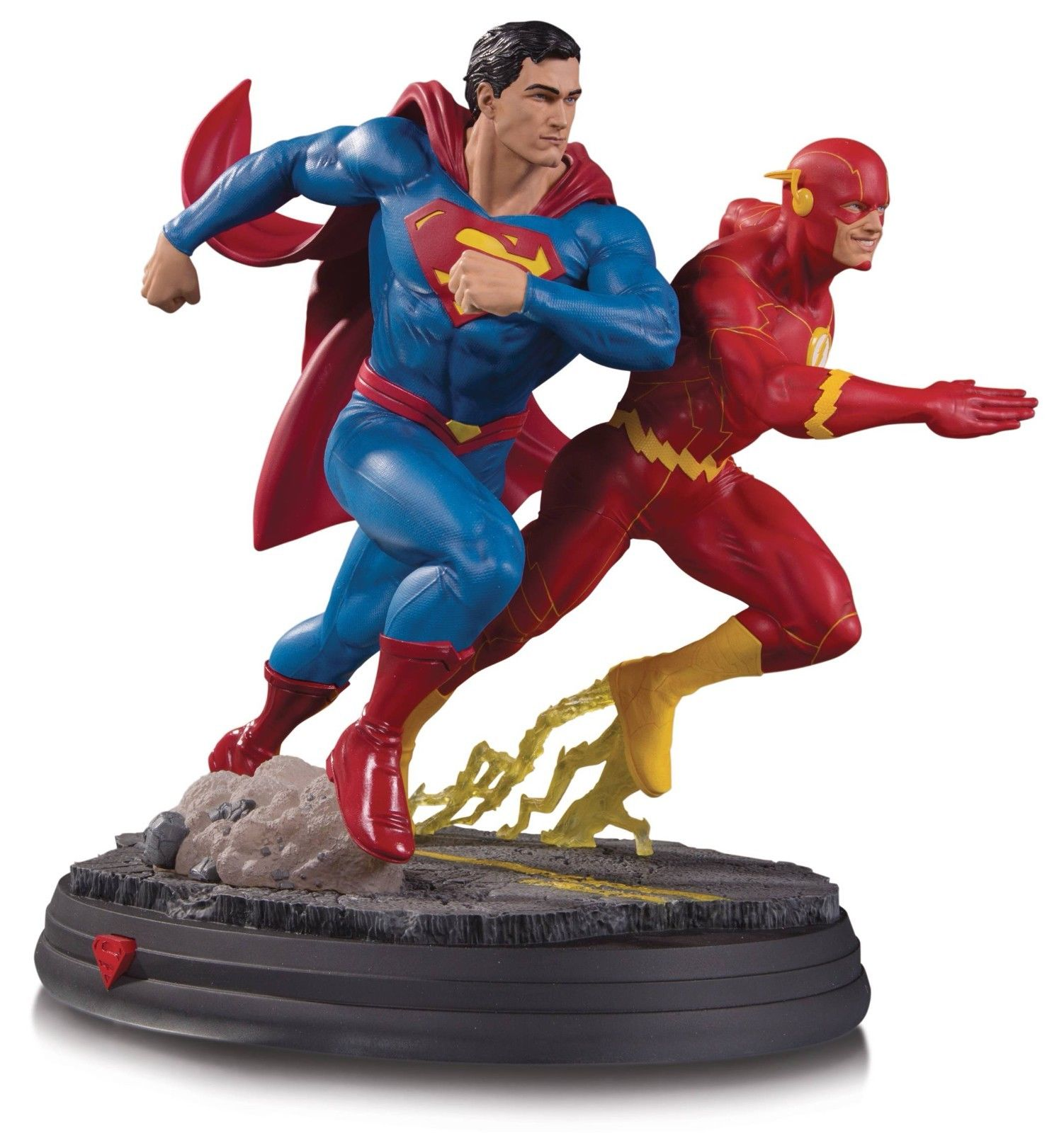 DC Direct Gallery Superman vs The Flash Racing Statue