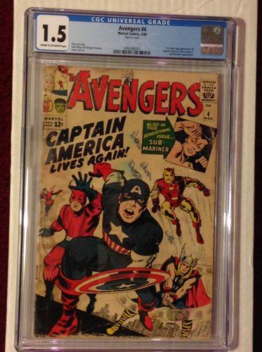 Avengers 4 CGC 1.5 1st SA Captain America