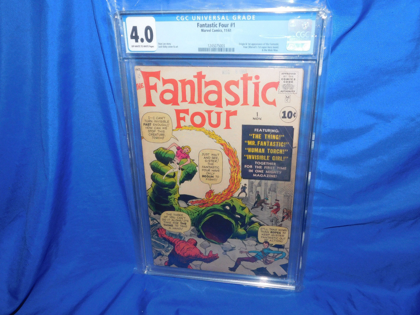 Marvel Fantastic Four #1 CGC 4.0 Nov 1961 1st Appearance Of OW White Pages