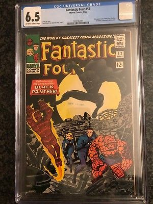 Fantastic Four #52 (July 1966, Marvel), CGC 6.5, 1st Appearance of Black Panther