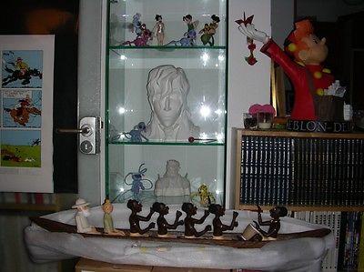 Kunstharzfigur Tim Piroge / Statuette resin Tintin Piroque von Herge superrar