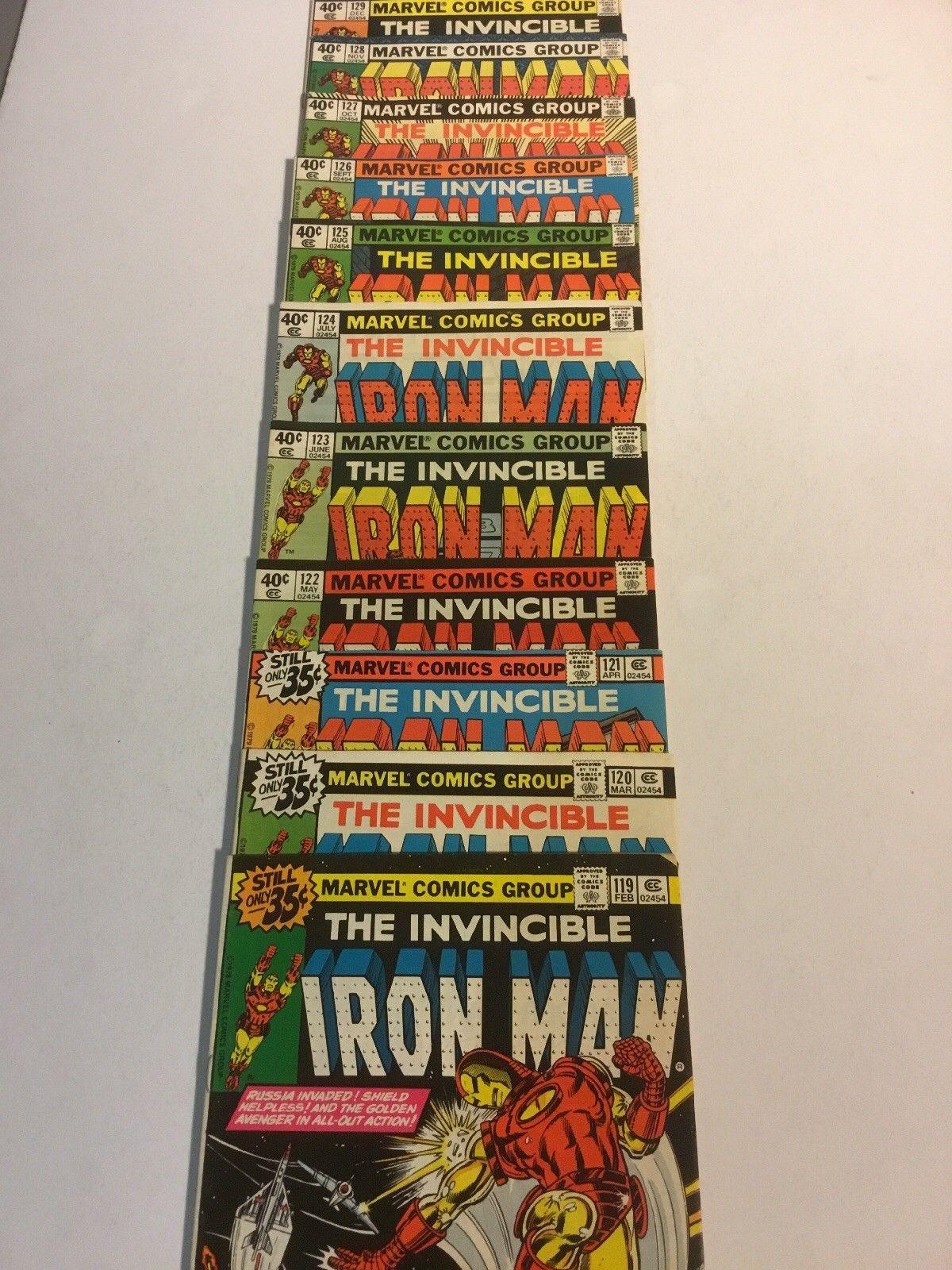 Invincible Iron Man lot 119 120 121 122 123 124 125 126 127 128 129 marvel