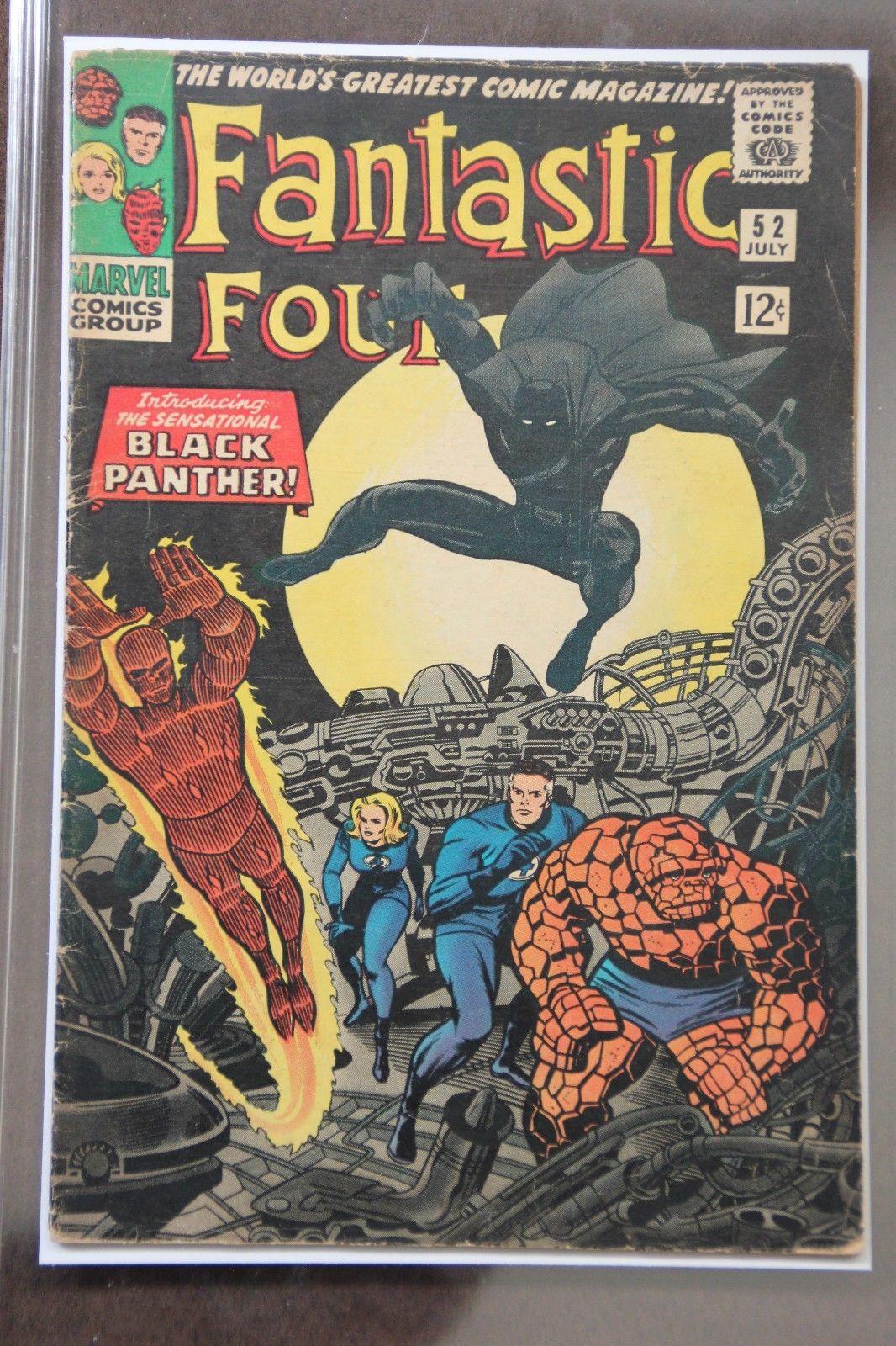 Fantastic Four #52 Marvel 1966 First App. Black Panther Affordable Key issue