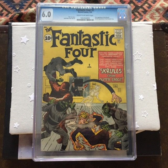 Fantastic Four #2 CGC 6.0  1st Skrull 2nd Fantastic Four - Great Cover Looks bet
