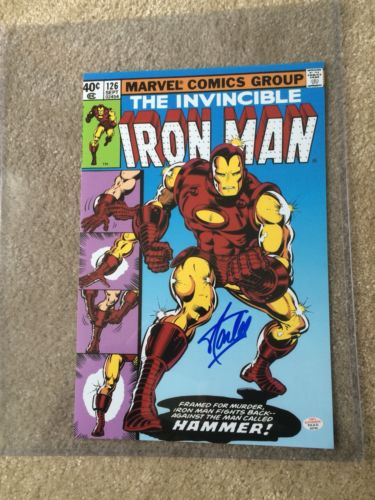 The invincible Iron Man 126  Marvel Comics Group Signed Stan Lee/ COA