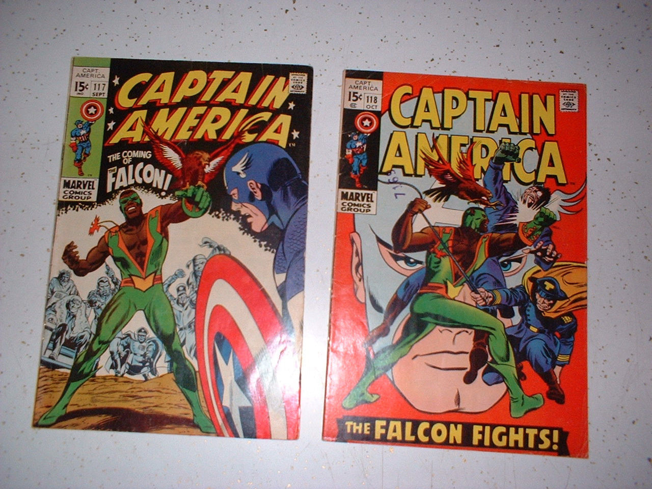 Marvel Comics Captain America 117 and 118 1st Falcon and Origin