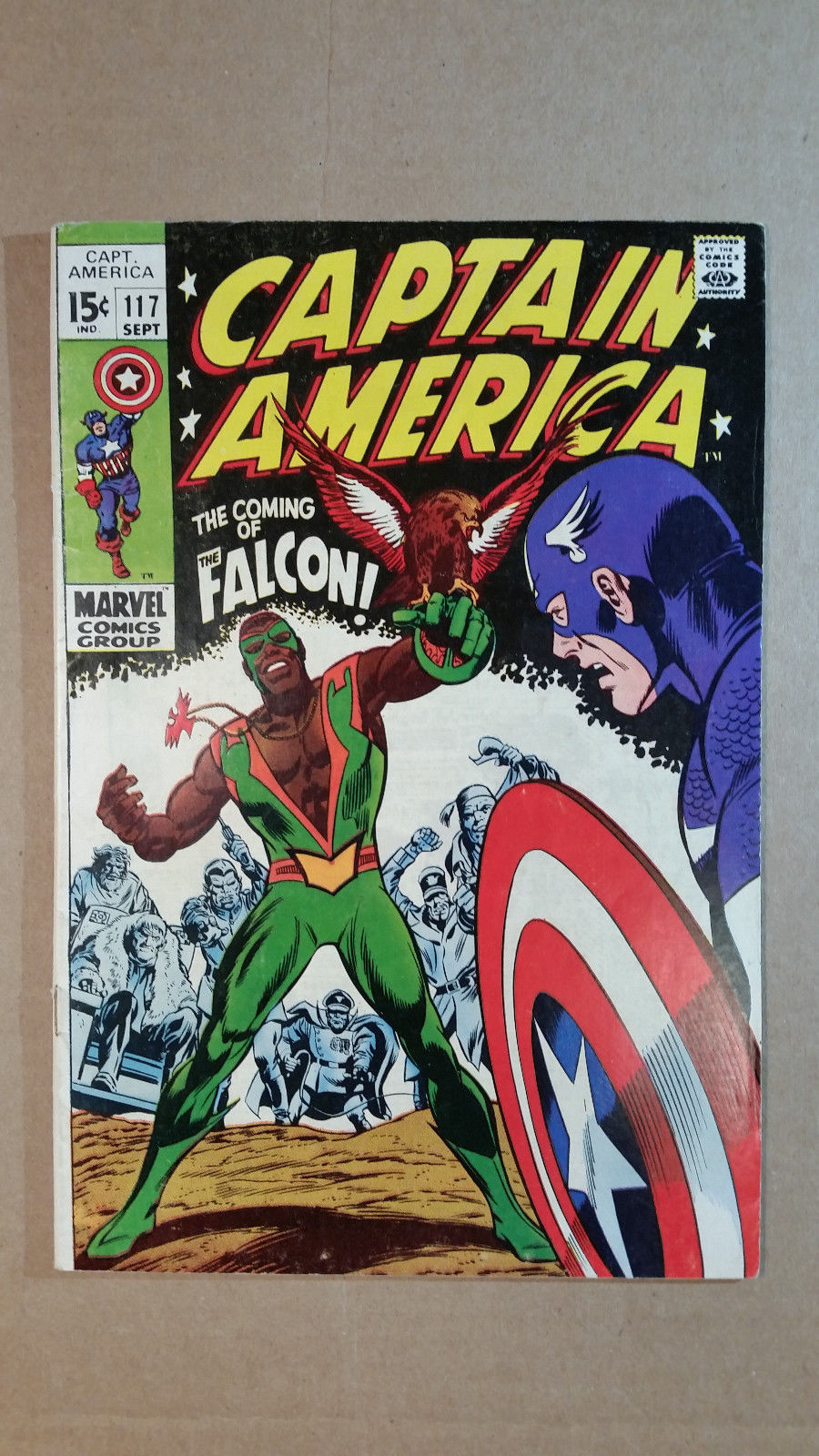 Captain America #117 and #118 1969 Marvel, 1st and 2nd Falcon, Higher Grade NR