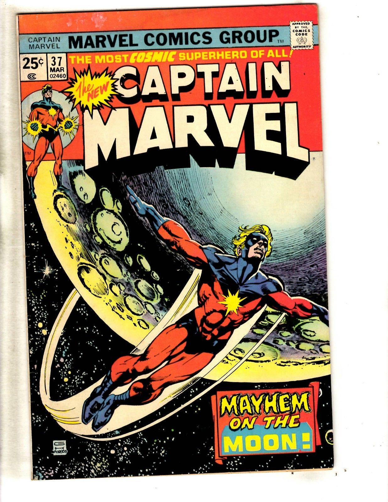 Lot Of 8 Captain Marvel Comic Books # 37 38 40 44 47 55 56 57 Avengers Hulk JG3