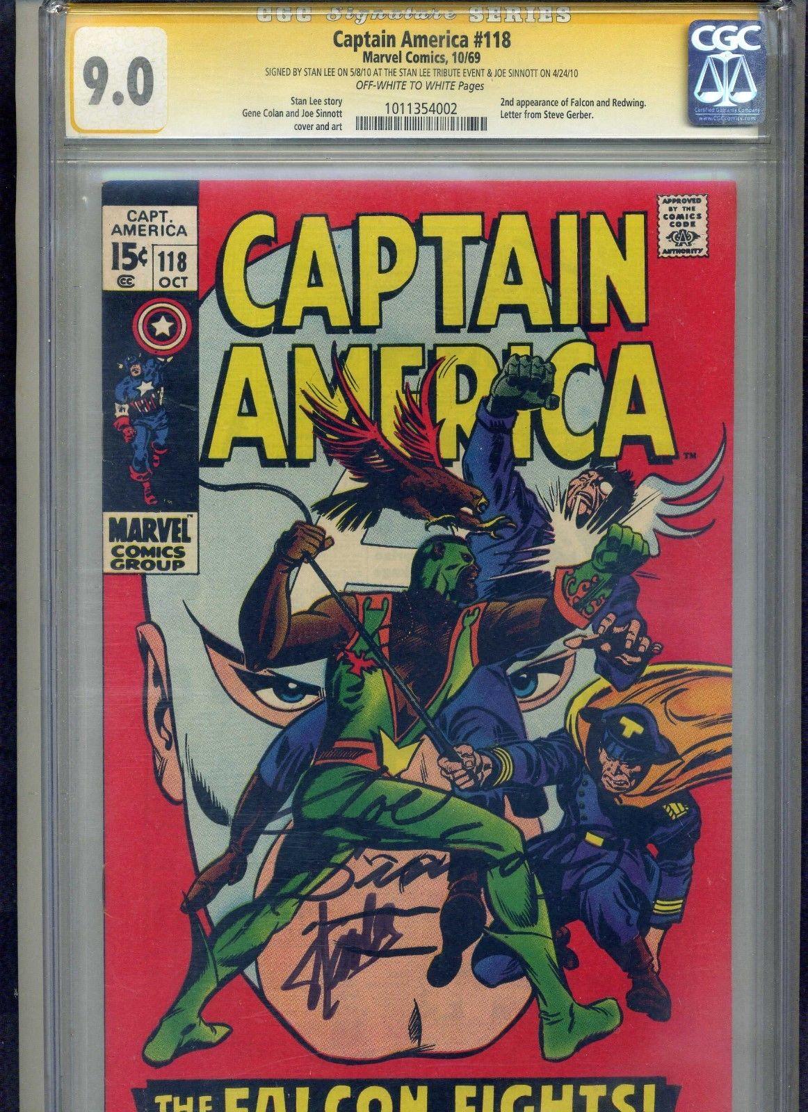 Captain America 118 CGC SS 9.0