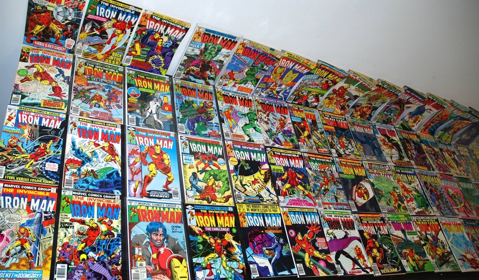 1976-89 MARVEL INVINCIBLE IRON MAN PART SET RUN LOT 82-252 FN/VF-NM+ 125 126 128