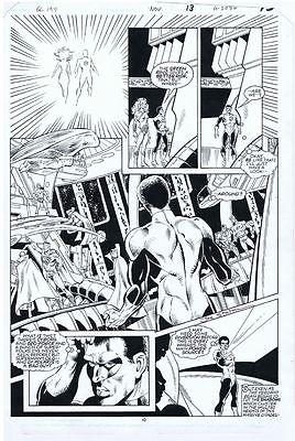 Staton GREEN LANTERN 194 pg 10 CRISIS PAGE SUPERMAN STEWART CYBORG HARBINGER