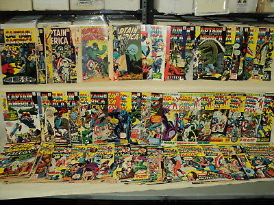 Captain America 101-200 (miss.6bks) SET Nice #109, #118 Marvel Comics (s 9795)