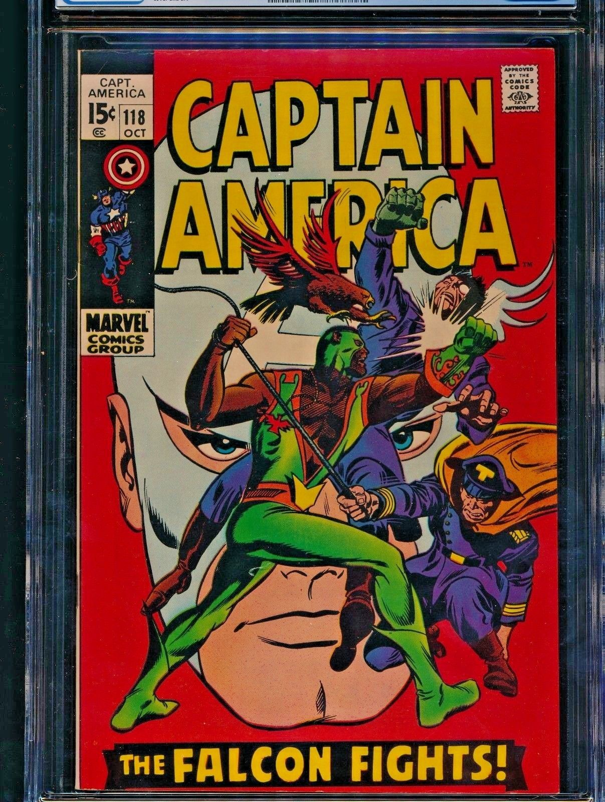 CAPTAIN AMERICA #118 (10/69) CGC NM- 9.2 WP 2ND APP FALCON ICONIC COVER 9.4?