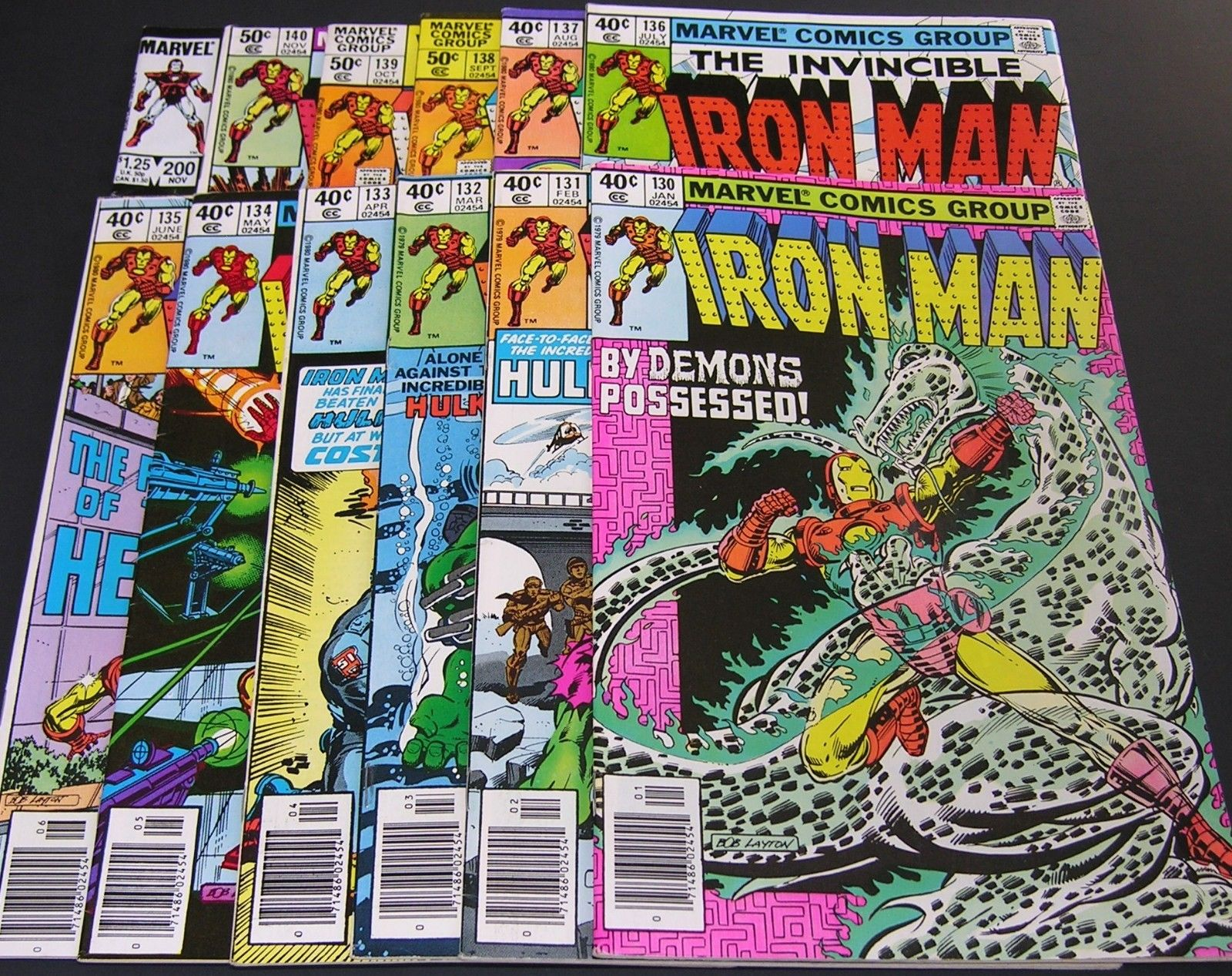 Iron Man 130,131,132,133,134,135,136,137,138,139,140,200 (Marvel) Ant-Man, Hulk