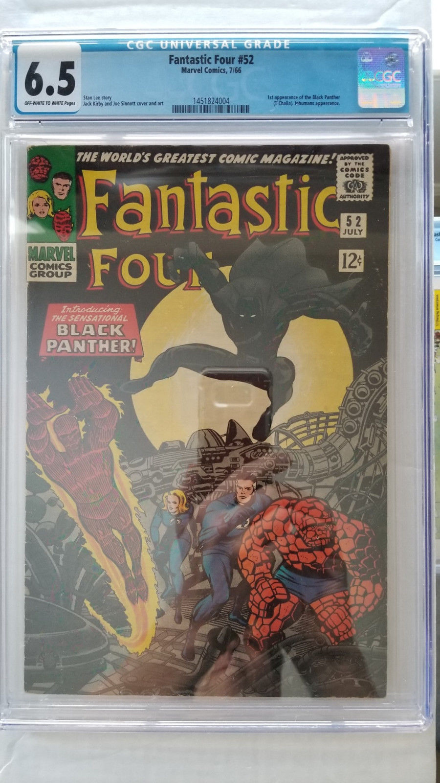 Fantastic Four #52 CGC 6.5 Fine+   1st Appearance Black Panther