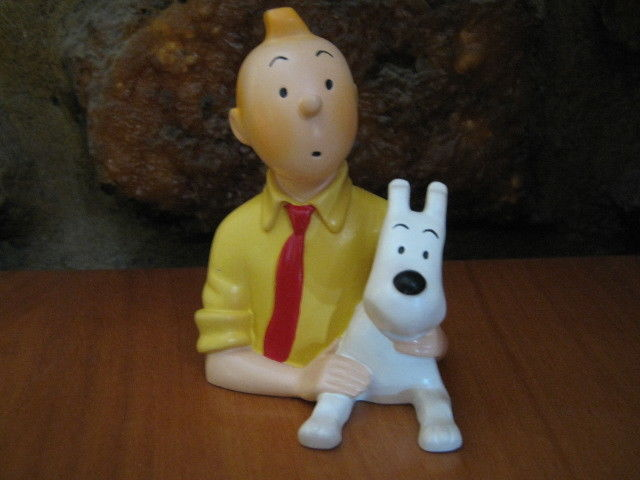 HERGE Buste Pixi - Tintin et Milou - Chemise jaune cravate rouge