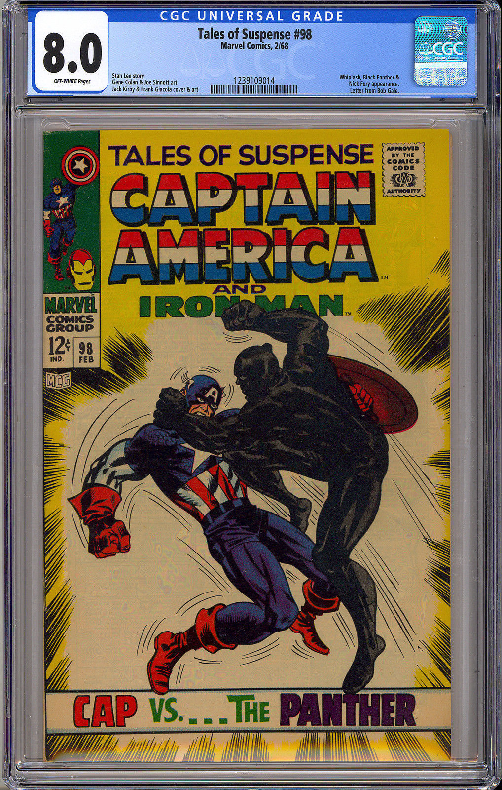 Tales of Suspense #98 BLACK PANTHER Cover Marvel 1968 CGC 8.0 VF Very Fine