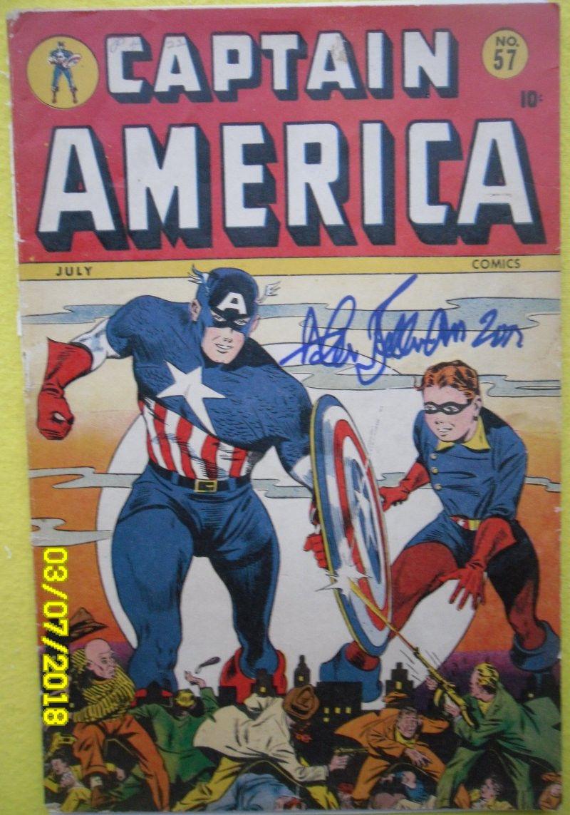 Captain America Comics #57 Timely Comics - Marvel Comics Nice Golden Age StanLee